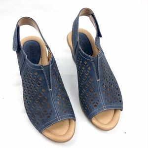 Earth Cascade Leather Wedges